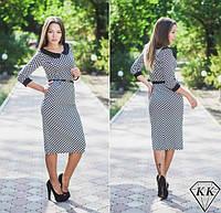 Платье женское Шахматка миди