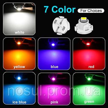 T3 Led Canbus (3030 SMD) светодиодная лампа автомобильная (цвет СИНИЙ) светодиод панель приборов подсветка