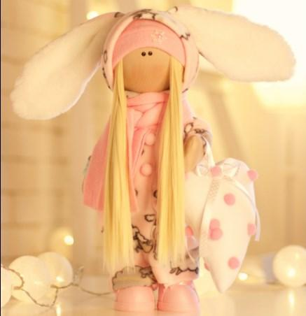 Подарки, мягкие игрушки, куклы-тильды. Текстильная куколка Пуша Pink:)