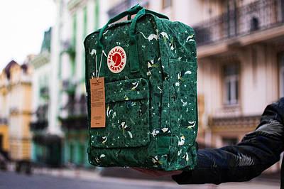 Рюкзак Fjallraven Kanken Art (Фьялравен Канкен Арт) Green Fable / Зелёный
