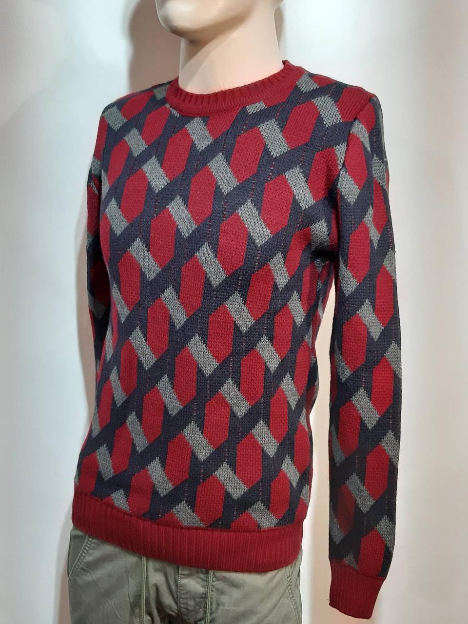 Мужской теплый шерстяной свитер Турция Красный