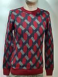 Мужской теплый шерстяной свитер Турция Красный, фото 6