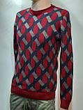 Мужской теплый шерстяной свитер Турция Красный, фото 4