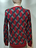 Мужской теплый шерстяной свитер Турция Красный, фото 3