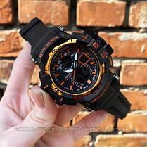 Часы наручные черные Casio G-Shock GW-A1100 Black-Orange / касио джишок черные с оранжевым, фото 2