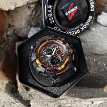 Часы наручные черные Casio G-Shock GW-A1100 Black-Orange / касио джишок черные с оранжевым, фото 3