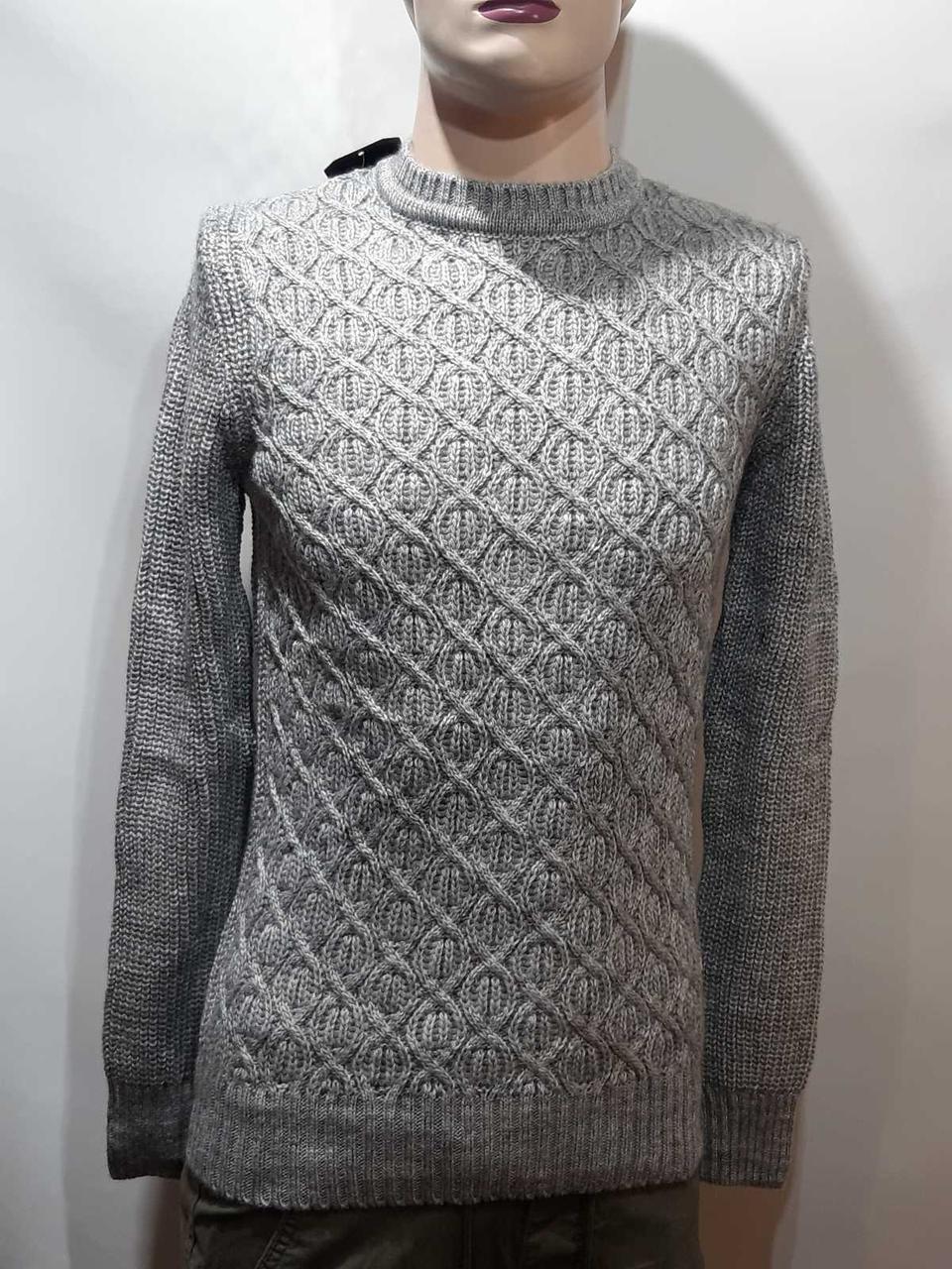 Мужской теплый шерстяной свитер Timoti отличного качества Турция Кофейный