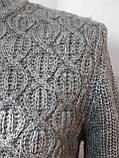 Мужской теплый шерстяной свитер Timoti отличного качества Турция Кофейный, фото 3