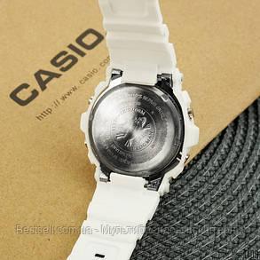 Часы наручные женские белые Casio Baby-G 8200 White / касио джишок белые, фото 2