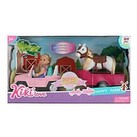 Лялька 88043 машинка з причепом, конячка, кор., 35-19-10,5 см.