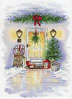 Набор для вышивки крестом М.П.Cтудия А-018 «Новогодняя дверь»