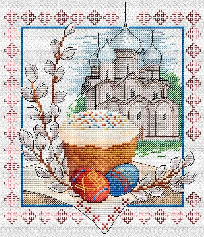 Набір для вишивки хрестом М.П.Студія М-057 «Великодній дзвін»