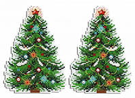 Набор для вышивки крестом М.П.Cтудия Р-453 «Новогодняя красавица»