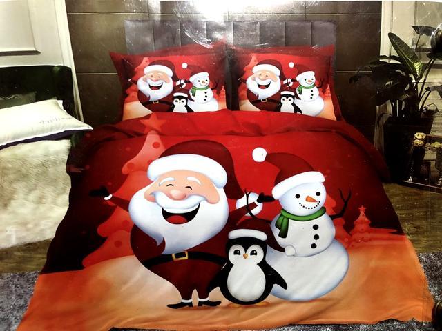 Двоспальні новорічні постільні комплекти