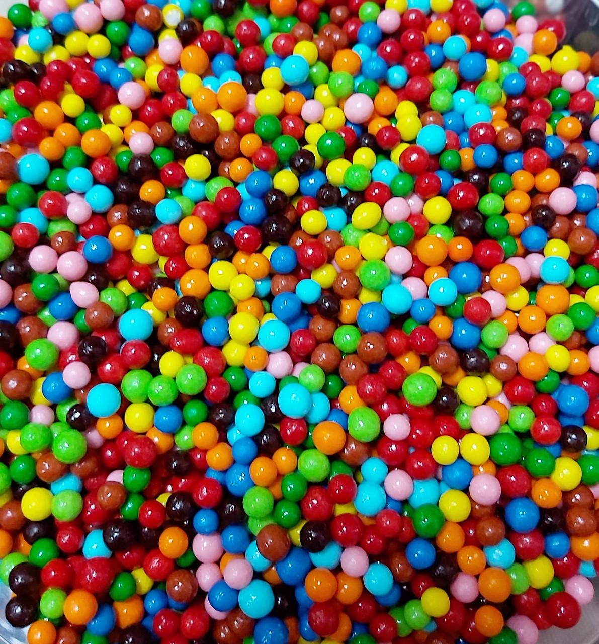 Присипка кондитерська Кульки Дзеркальні Мікс 2-14 мм, фіолетово-бузковий