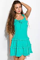 Женское легкое бирюзовое летнее платье, повседневное (casual), 100% полиэстер