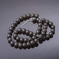Бусины натуральный камень на нитке Шунгит d-8мм L 37см купить оптом в интернет магазине