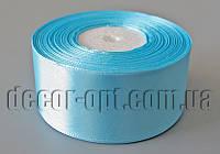Лента атласная оттенок голубого 4,00 см 36ярд арт.62