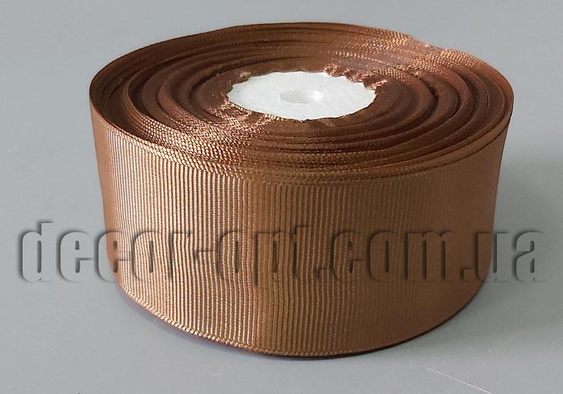 Лента репсовая оттенок коричневого 4 см 25 ярд арт.30
