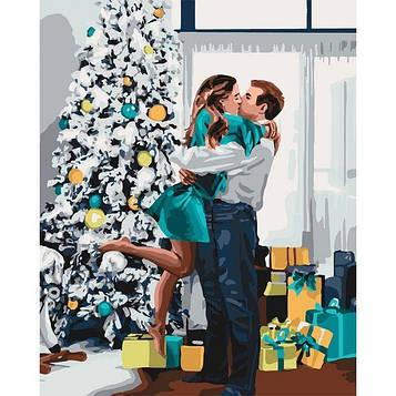 Картины по номерам 40*50 см. Идейка (без коробки) Новогоднее настроение (КНО 4637)