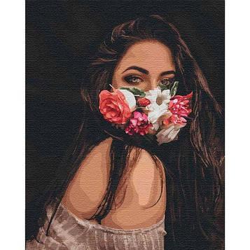 Картины по номерам 40*50 см. Идейка (без коробки) Цветочное дыхание (КНО 4767)