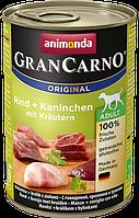 Animonda Gran Carno (Анимонда Гран Карно) для собак кролик и травы 800 г