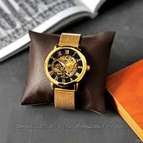 Оригинальные женские наручные часы стальной ремешок  Forsining 1040 Gold-Black (Видеообзор краткий), фото 3
