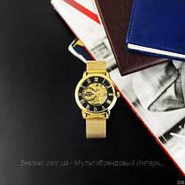 Оригинальные женские наручные часы стальной ремешок  Forsining 1040 Gold-Black (Видеообзор краткий), фото 2