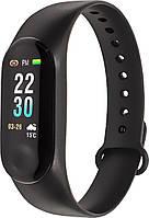 Фитнес браслет Smart Band M3 Plus Black LED экран цветной Блютуз 4.1 для занятий спортом Андроид 4.4 IOS 9.0