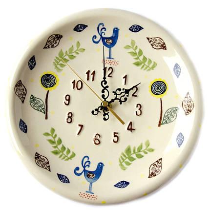 Часы настенные керамические 24 Райские птицы, фото 2