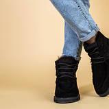Угги женские замшевые черного цвета, фото 3