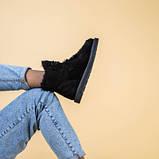 Угги женские замшевые черного цвета, фото 5
