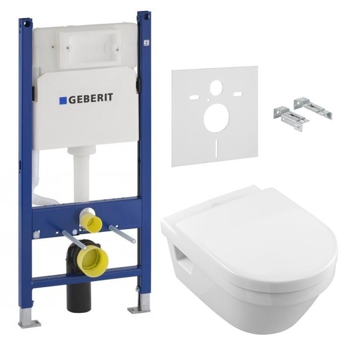 Комплект: ARCHITECTURA унитаз подвесной 5684HR01 с сид. soft-close + Geberit Duofix инсталляция 458.126.00.1