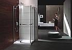 RUBIK душевая кабина 90*90*190см квадратная (стекла + двери), распашные двери, стекло прозрачное 8мм, фото 3