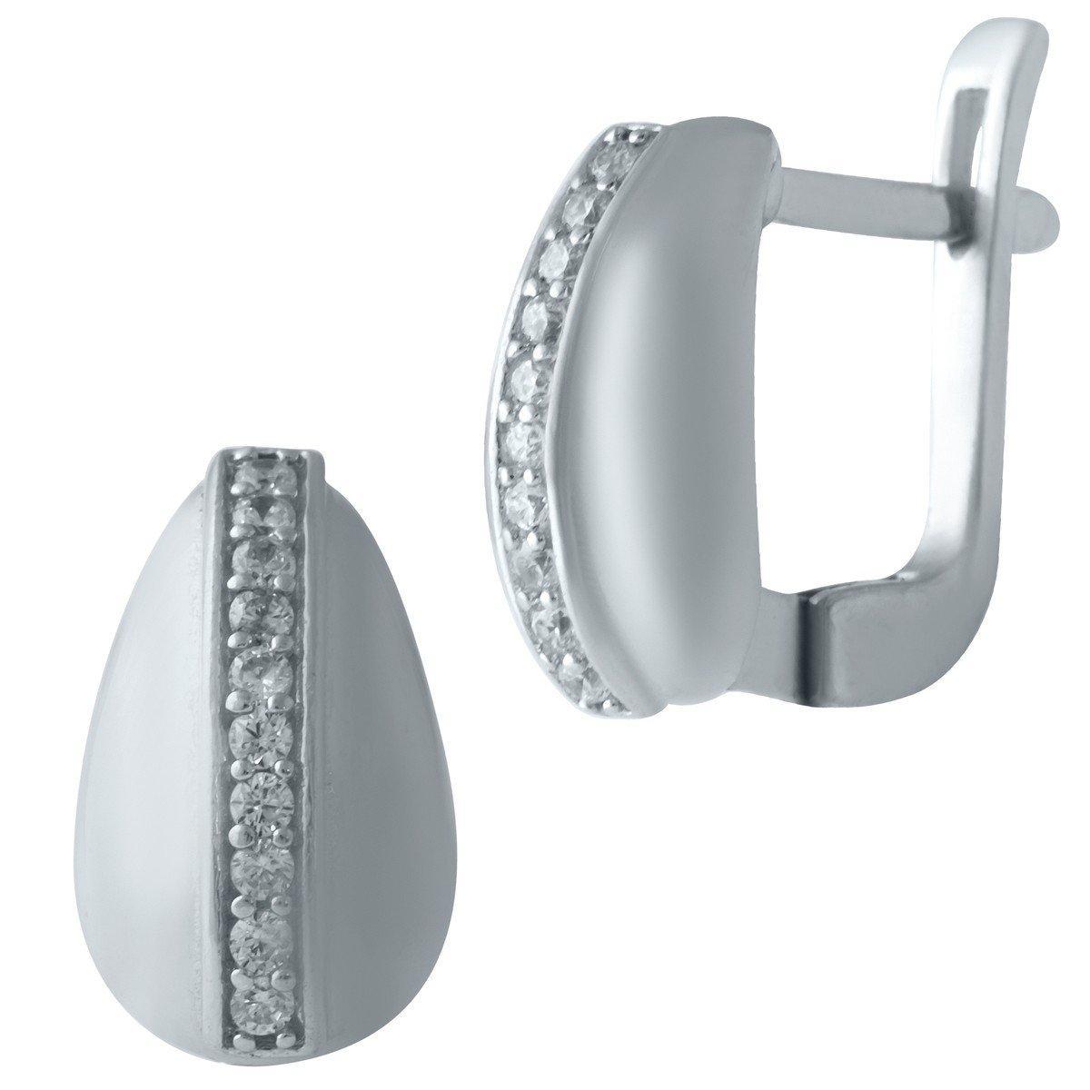 Серебряные серьги DreamJewelry с фианитами (1635056)