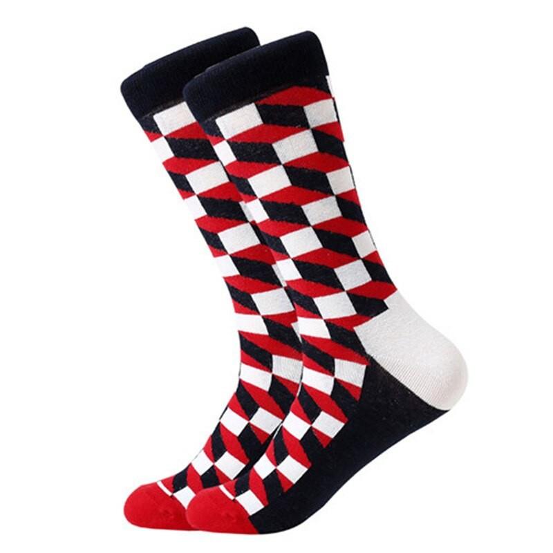Носки высокие Friendly Socks с оптическим рисунком