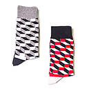Носки высокие Friendly Socks с оптическим рисунком, фото 3