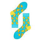 Шкарпетки бавовняні Friendly Socks Cheese блакитного кольору, фото 2