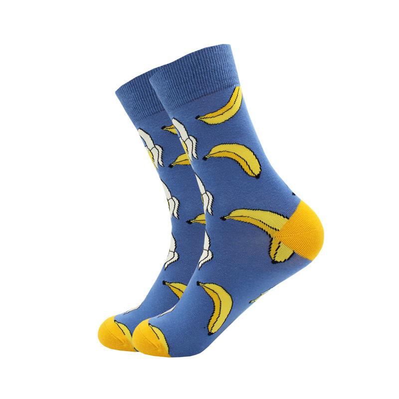 Носки Friendly Socks Bananas синие с желтыми пятками