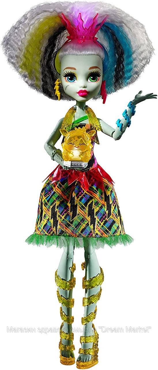 Кукла Монстр Хай Наэлектризованные Френки Штейн со светящимся питомцем - Monster High Electrified High Voltage