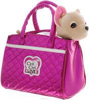 Игрушечная собачка для девочек Чи Чи Лав Модный Гламур в стильной розовой сумочке - Chi Chi Love Glam Fashion, фото 1