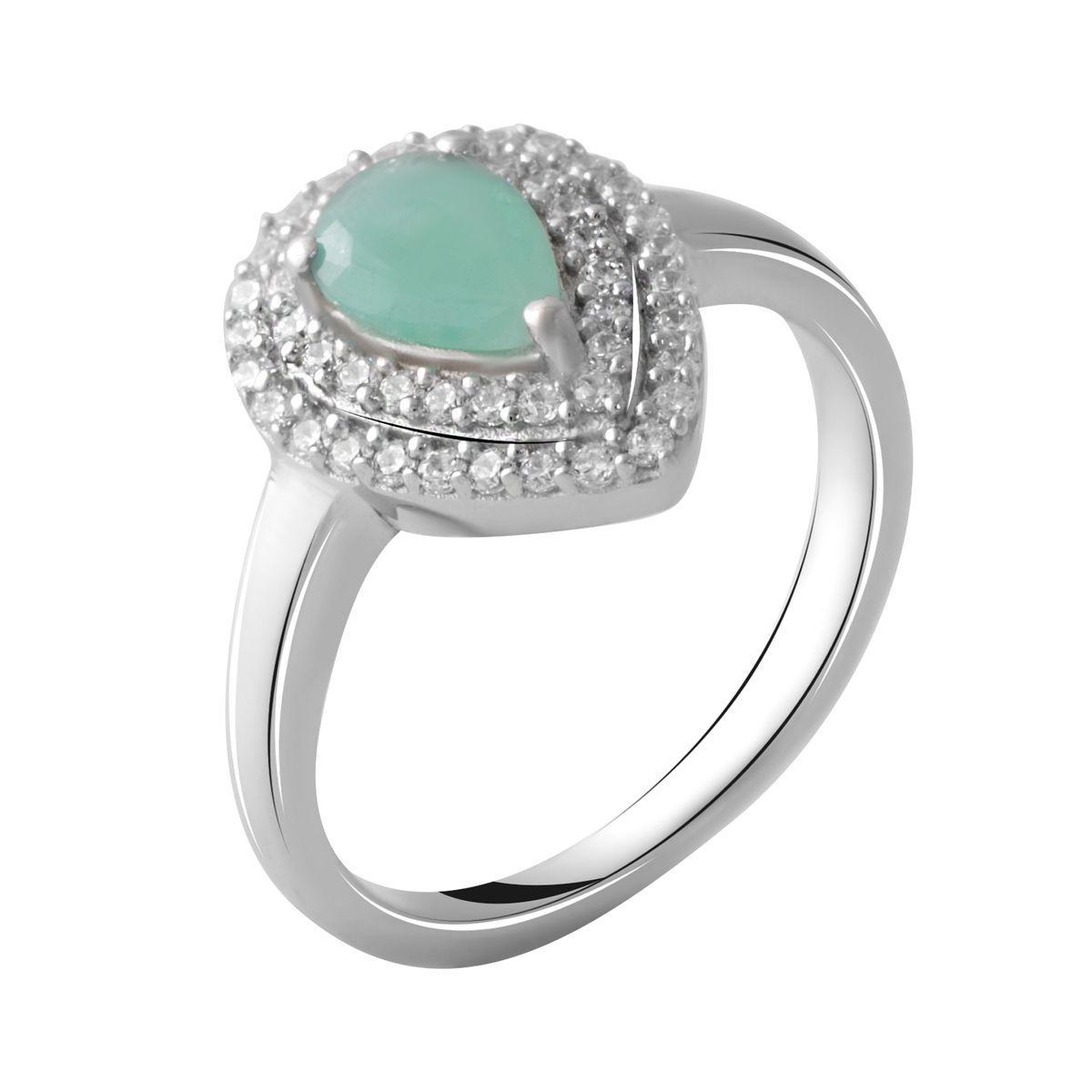 Серебряное кольцо DreamJewelry с натуральным изумрудом 0.52ct (2051480) 18 размер