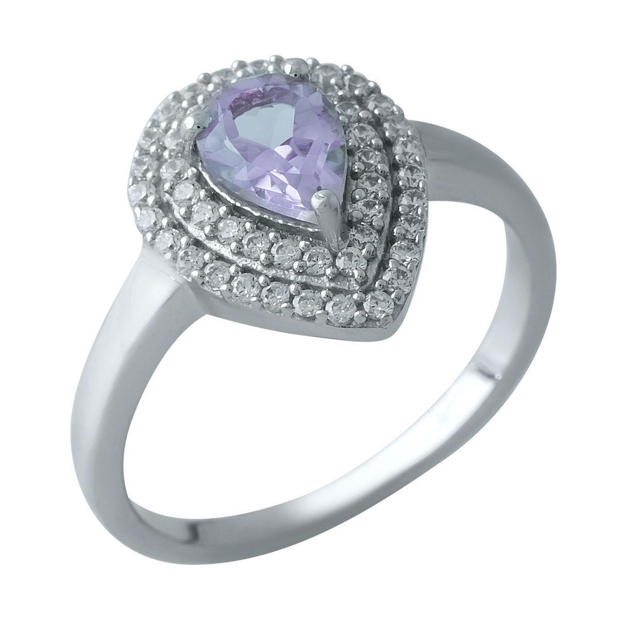 Серебряное кольцо DreamJewelry с натуральным аметистом (1969953) 17 размер