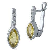 Срібні сережки DreamJewelry з цитрином nano (1970133), фото 1