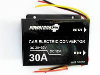 Преобразователь  24V-12V 25А 6 проводов Powerone (Box)+ выносной предохран