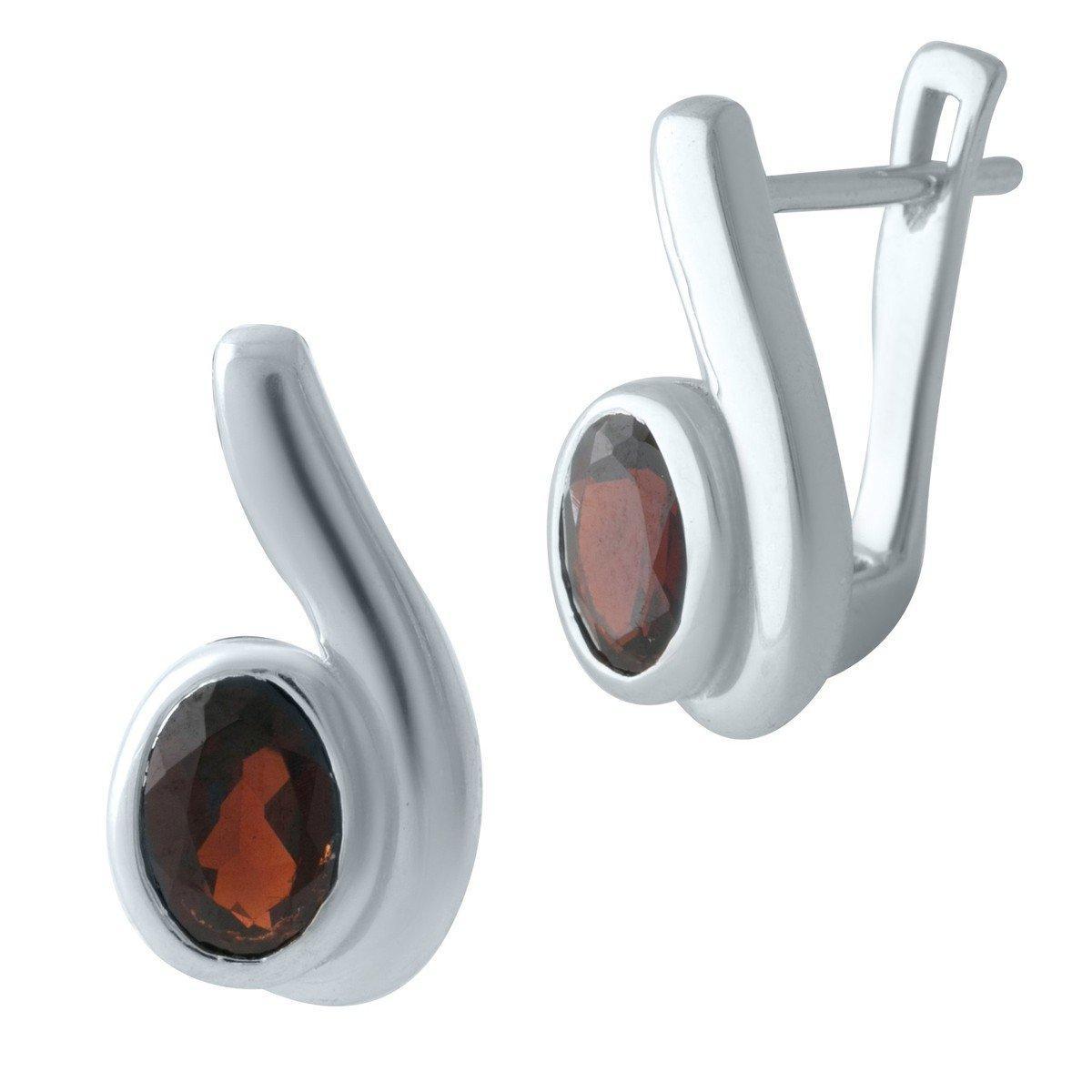 Серебряные серьги DreamJewelry с натуральным гранатом (2002918)