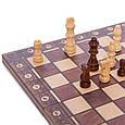 Шахматы, шашки, нарды 3 в 1 деревянные с магнитом W7702H 39*39 см, фото 3