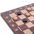 Шахматы, шашки, нарды 3 в 1 деревянные с магнитом W7702H 39*39 см, фото 4