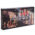 Шахматы, шашки, нарды 3 в 1 деревянные с магнитом W7702H 39*39 см, фото 9
