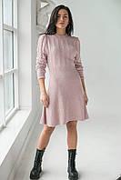 Теплое платье оригинального силуэта  LUREX - пудра цвет, L (есть размеры), фото 1